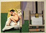 <p>Rare woodblock print from the book, &quot;Rafuto Joyu&quot;, Nudes and Actresses, privately published by Junichiro Sekino in 1984 and numbered 55/180. In excellent condition.&nbsp; Framed size is 21.5&quot; by 17.5&quot;.</p>
