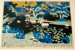 <p>Hide Kawanishi woodblock print, &quot;Water Lily Season&quot;, 42/200, 1959. In excellent condition. Framed size is 21&quot; by 26.5&quot;</p>